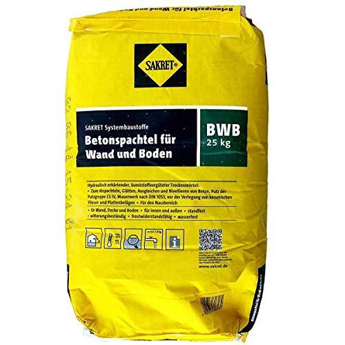 1 Palette = 42 Sack Sakret BWB Betonspachtel für Wand und Boden (25 kg)