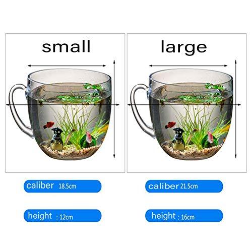 XCCV Creative Micro Landscape Öko-Flaschentank, Tischaquarium , Mini-Aquarium in Heimtierbedarf, geeignet für zu Hause , Büro small
