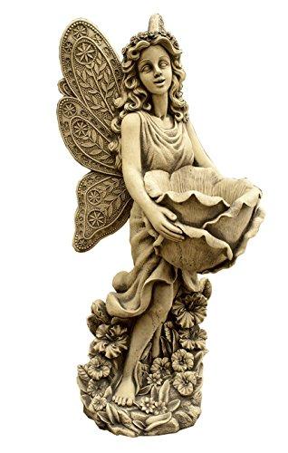 CATART Figura Decorativa Hada en hormigón-Piedra para el jardín Exterior 80X31cm.