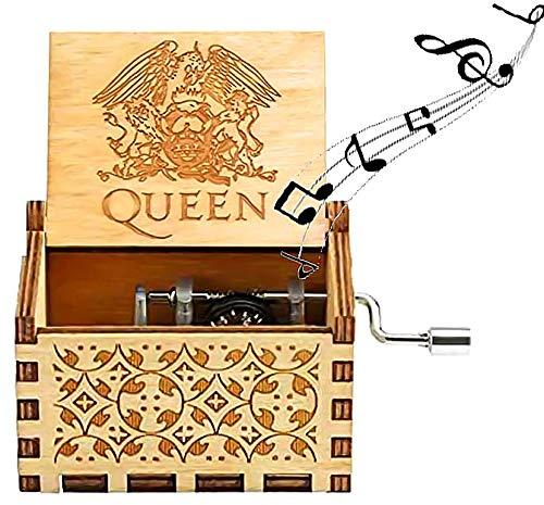 Spieluhr Hölzerne, Queen Spieluhr Hand Kurbel Spieluhr Geschnitzte Holz Hand Spieluhr Thema Spieluhr Handwerk Kinder Freunde