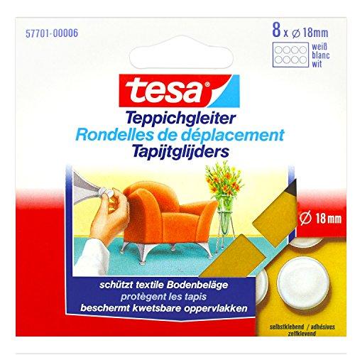 Tesa Tesa Teppichgleiter rund, 8 x 22 mm weiß 57702-00006