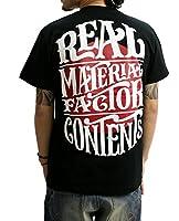 (リアルコンテンツ)REAL CONTENTS tシャツ メンズ 大きいサイズ ティシャツ 半袖Tシャツ ライジングサン ストリート 柄 ブランド ロゴ プリント rcst1201 XXL BLACK