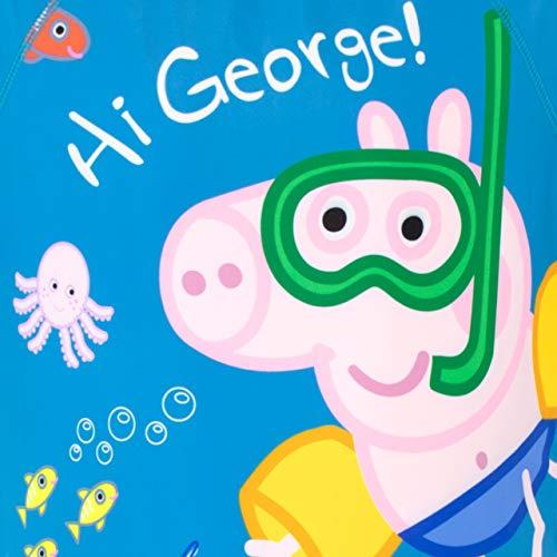 Peppa Pig Bañador para Niño George Pig Azul 2-3 Años