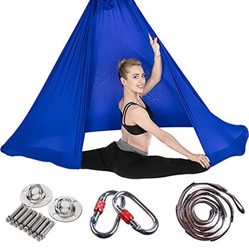 Viktion Authentisch Anti Gravity Yoga Swing Hängematte Yogatuch Set dunkelblau