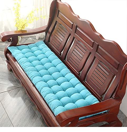 Alfombrilla de asiento de banco de algodón suave, cómoda, suave y cómoda, cojín de asiento para jardín, banco de metal o madera de 2 a 3 plazas