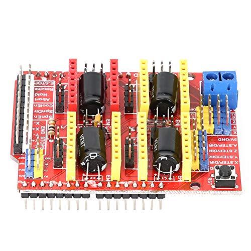 Changor CNC Expansion Board, 3D Printer Driver V3 Printer Short Circuit Protection Metal and Plastic