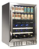 NewAir Beverage Cooler 22 Bottle and 70 Can Capacity Dual Zone Built in Refrigerator for Soda Beer...