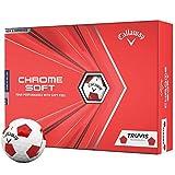 キャロウェイ 2020 CHROME SOFT TRUVIS クロムソフト トゥルービス ホワイト×レッド ゴルフボール 1ダース USA直輸入品 2020年モデル