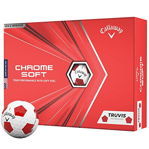 2020 Callaway Chrome Soft Golfbälle (Truvis Red/White)