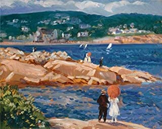 'Gifford Reynolds Beal,On The Rocks,1922' Oil Painting, 30x37 Inch / 76x95 Cm ,printed On Polyster Canvas ,this High Resolution Art Decorative Prints On Canvas Is Perfectly Suitalbe For Home Office Decoration And Home Gallery Art And Gifts