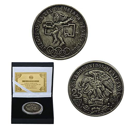 1968,México,Cobre,Monedas,Objetos de Colección,Juegos Olímpicos,Hermoso,de Alta Calidad,Hermoso,Histórico Moneda de Desafío/Plata/A
