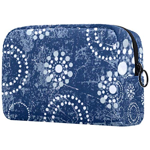 Bolsa para brochas de maquillaje personalizable, bolsa de aseo portátil para mujer, bolso de mano, organizador de viaje de perlas y copos de nieve