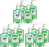 HIGTN Advanced Hand Sanitizer Refreshing Aloe, Design Series, 8 fl oz Counter Top Pump Bottle 9674-06-ECDECO, Pack of 12