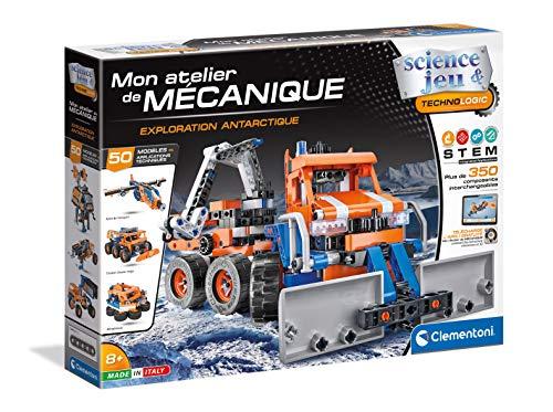 Clementoni-Mon Atelier de Mécanique-Exploration Antarctique-Jeu de Construction-Version française, fabriqué en...