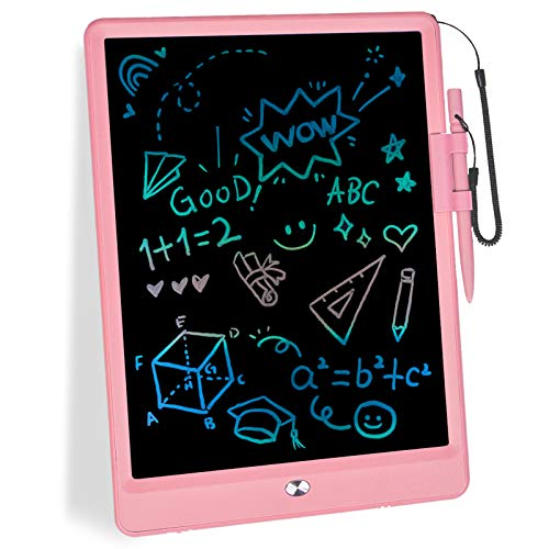 mloong LCD Writing Tablet,10 Inch Drawing Tablet Kids Tablets Doodle Board Electronic Digital Drawing Board for Adults and Kids Ages 3+ (Pink)