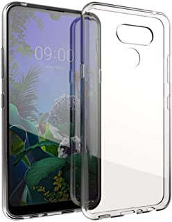b4834f22503 Muvit Pack LG K50 Funda Cristal Soft Transparente + Protector de Pantalla  Vidrio Templado Plano