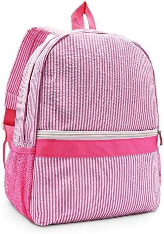 Seersucker Backpack Toddler with Pockets Mini backpack for Preschool Kids Kindergarten Kids product image