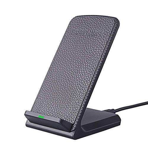 XYSQWZ Soporte De Cargador Inalámbrico Rápido Certificado Qi De 10 W para iPhone 8 iPhone X Samsung Galaxy S8 Plus S7 Note 8 Almohadilla De Cargador Inalámbrico
