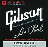 Gibson Les Paul Premium Electric Guitar Strings, Ultra Light Gauge 9-42