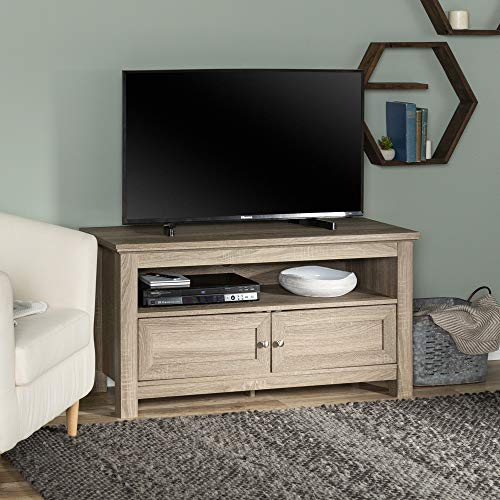 """WE Furniture 44"""" Cortez TV Stand Console, Driftwood"""