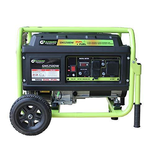 5250-Watt Propane and Gasoline Powered Dual Fuel Generator - Green-Power America GN5250DW