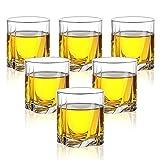 Whiskyglas 6er Set Bleifreie Kristallklare Scotch Gläser 9 Oz Glaswaren Für Scotch Bourbon Cognac Brandy Cocktail (Color : Clear, Size : 7.5×8.2cm)