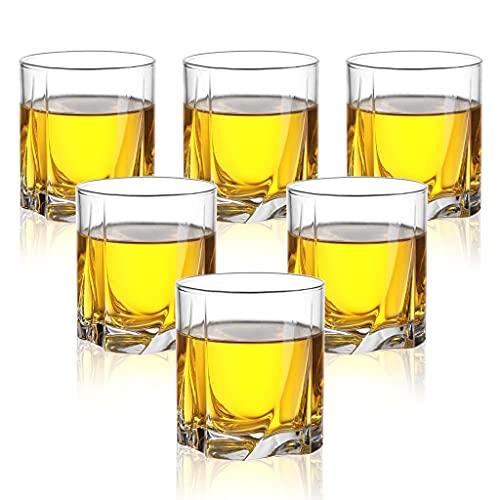 Juego De 6 Vasos De Whisky Vasos De Whisky Transparentes Sin Plomo Cristalería De 9 Oz para Cóctel De Brandy De Coñac Y Whisky Escocés (Color : Clear, Size : 7.5×8.2cm)