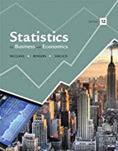 Statistics for Business and Economics Plus NEW MyLab Statistics with Pearson eText -- Access Card Package (12th Edition)