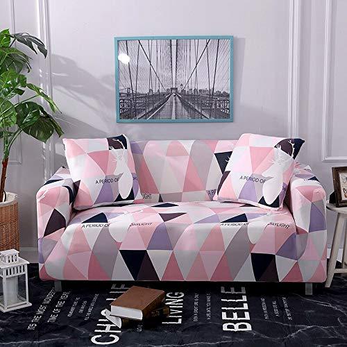 ASCV Funda de sofá elástica Estampada geométrica elástica para Sala de Estar Funda seccional Protector de Muebles de sofá A7 2 plazas