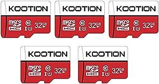 KOOTION microSDカード 32GB(5個セット) SDアダプター付 Class10 UHS-I メモリカード SDXC マイクロSDカード U1高速転送 ドライブレコーダー スマートフォン デジカメ ターブレッド PC対応