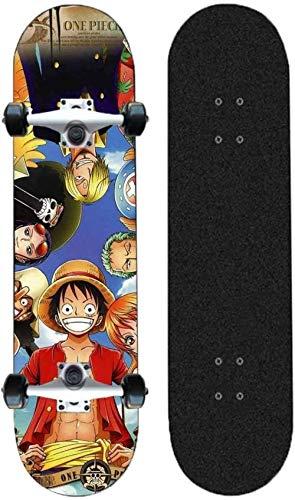 Vbnmda Skateboard TBARD TOART One Pieza Adecuada para ADOLESCADORES NIÑOS para NIÑOS Adultos Siete Caja DE MAPADORES DE Siete DE Siete DE Freestyle TAPONALES Cortas Mini STEET Stares