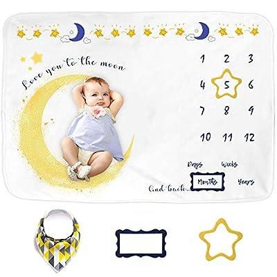 sunvito Baby Milestone Blanket for Baby Girl, B...