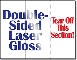 38lb Laser Gloss Brochure w/Tear Off - 250 Brochures