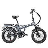Rattan 48V 500W/750W Electric Bike for Adults Folding Bikes Fat Tire Bikes 13AH Removable Lithium-ion Battery E-Bikes 7 Speed Shifter Electric Bicycle