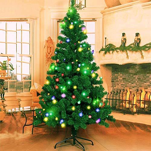 Dream Loom Weihnachtsbaum, 180cm künstliche Weihnachtsbaum mit 1000 Spitzen und LED-Lichterketten, Weihnachtsdeko für Zuhause Büro Garten