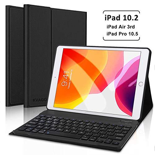 Keyboard Case 10.2 inch for iPad 7th Generation/iPad Pro 10.5 inch/iPad Air 3, Auto Sleep Wake Case with Magnetically Detachable Wireless Keyboard (Black)