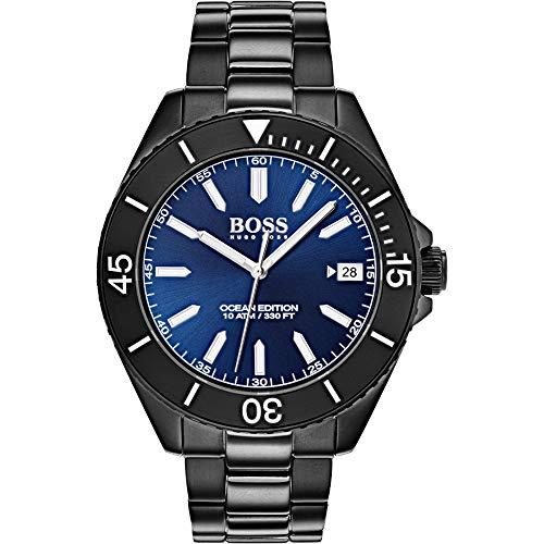 Hugo Boss Unisex Analog Quarz Uhr mit Edelstahl Armband 1513559