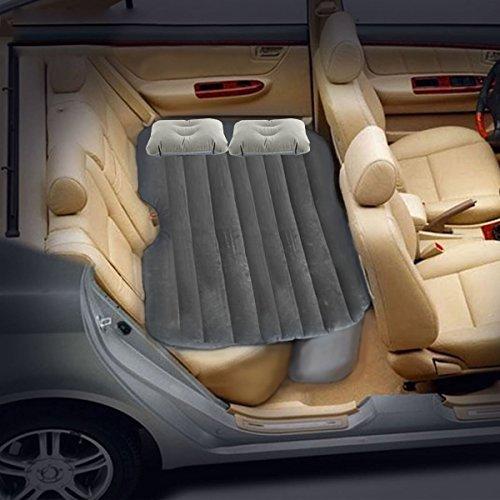 LABABE Auto Travel aufblasbares Bett Luftmatratze Camping Rücksitz Verlängerte Matratze beflockt aufblasbares Auto Kissen Universal Auto Reisen Air Bett für Kinder - (graue Beflockung)