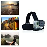 Navitech Helmet/Headband/Head Strap Mount Compatible with The Hiearcool H9R Action Camera