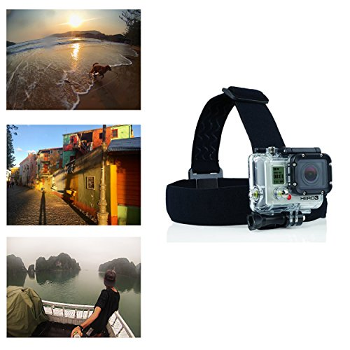 Navitech Helmet/Headband/Head Strap Mount Compatible with The Victure Sports Action Camera WiFi 14MP Full HD 1080P
