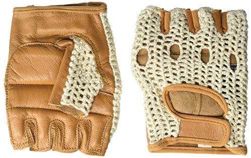 Kango Fitness Leather Fingerless Wheelchair Gloves