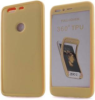 انفينيكس زيرو 5 أو زيرو 5 برو  غطاء حماية كاملة بدرجة 360 من السيليكون المرن - ذهبي