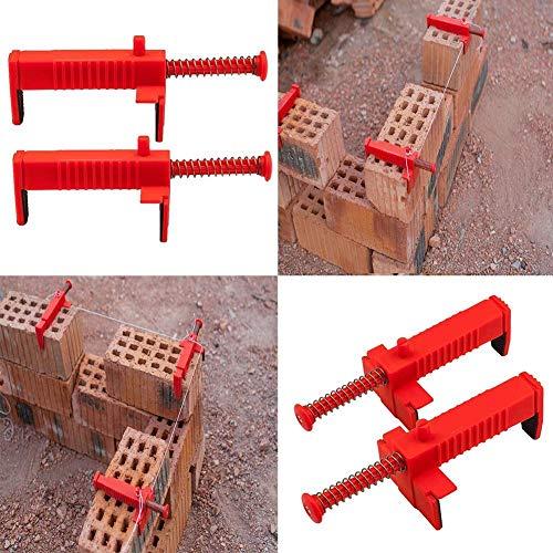 1 unidad de riel de ladrillo, abrazaderas de forro de ladrillo para cajón de alambre, herramienta para construcción de construcción/construcción de pared alambre rack/fijar las abrazaderas
