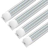 SHOPLED 8FT LED Shop Light Fixture, 72w 9360 Lumens 6000K Cool...