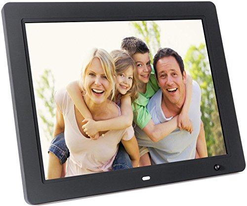 """DigitalMate DM1500 15"""" Hi-Resolution Digital Picture Frame with Motion Sensor (Black)"""