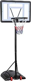 comprar comparacion Yaheetech Canasta de Baloncesto Tablero Portátil Cesta de Baloncesto Móvil Altura Ajustable 219-279 cm con Soporte