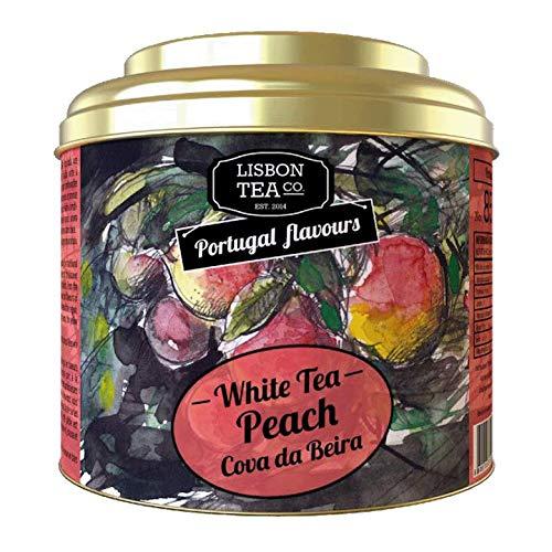 Lisbon Tea No. 85 Weisser Pfirsichtee | Aromatisierter Weißer Tee mit Pfirsich | Natürlich süß und intensiv | Loser Infusions Tee