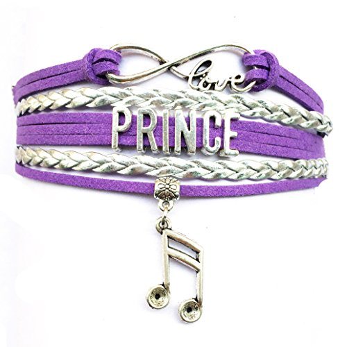 Infinity Love Prince Bracelet Memorabilia Collectible Music Charm Fans Gift