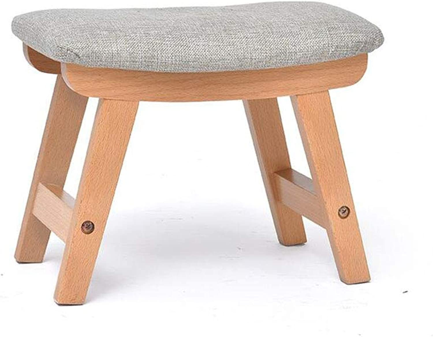 HQCC Solid Wood Home shoes Bench Fashion Small Bench (color   B)