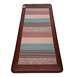 """PHYMAT Amethyst Far Infrared Heating Pad - Infrared Rainbow Crystal Heating Mat - 5 Color Natural Gemstones Full Body Heating Pad - Overheat Protector,Auto Shut Off,Smart Timer Setting(67""""x27"""")"""